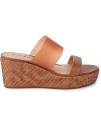 Lucky Brand Brindia Wedge Sandals - Brown