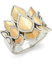John Hardy 18k Yellow Gold & Sterling Silver Ring - Metallic