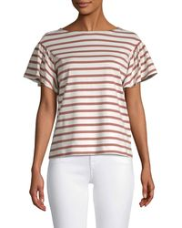 Kate Spade Striped Cotton Top - White