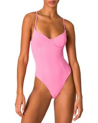 Onia Isabella High-cut Leg One-piece Swimsuit - Pink