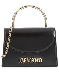 Love Moschino Top Handle Crossbody Bag - Black