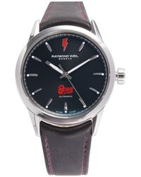 Raymond Weil Men's Stainless Steel & Leather Strap Watch - Black