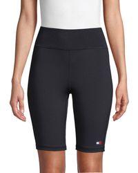 Tommy Hilfiger Women's Stretch Bike Shorts - Black - Size M