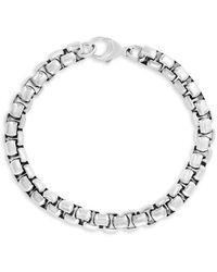 Effy Sterling Silver Round Box Chain Bracelet - Metallic