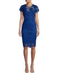 ABS By Allen Schwartz - Embroidered Sheath Dress - Lyst