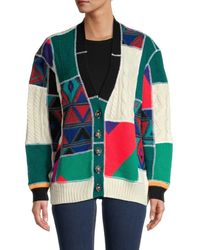 RE/DONE 90s Upcycled Oversized Cardigan - Multicolor