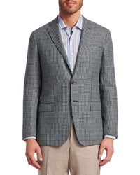 Saks Fifth Avenue Collection Hopsack Cashmere & Virgin Wool Sportcoat - Multicolour