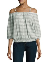 Romeo and Juliet Couture - Striped Off-the-shoulder Top - Lyst