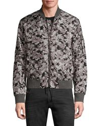 John Varvatos Men's Conway Camo Bomber Jacket - Sting Ray - Size M - Multicolour
