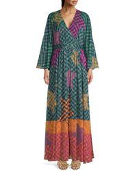 Ted Baker Women's Printed Kaftan Maxi Dress - Olive - Size 4 (10) - Green