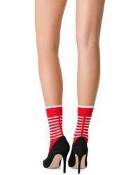 Fogal - Ikena Striped Crew Socks - Lyst