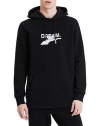 PUMA Men's Avenir Graphic Hoodie - Black - Size L