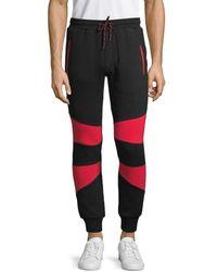 NANA JUDY Men's Stretch-cotton Jogger Pants - Black Multi - Size Xl