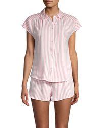 Jane And Bleecker 2-piece Striped Pyjama Set - Pink