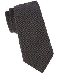 Armani Men's Pindot Silk Tie - Black