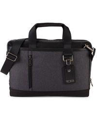 Tumi Women's Burke Port Nylon Briefcase - Gray - Black