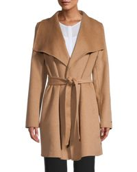 Tahari Women's Ella Wrap Coat - Charcoal - Size M - Multicolour