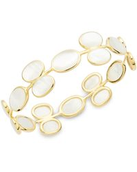 Ippolita - 18k Yellow Gold & Mother-of-pearl Bangle - Lyst