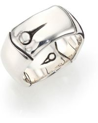 John Hardy - Bamboo Sterling Silver Wide Band Ring - Lyst