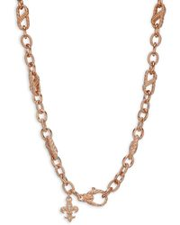 Judith Ripka Rose-goldplated Sterling Silver & Cubic Zirconia Chain Necklace - Metallic