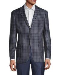 Hickey Freeman Men's Milburn Ii Regular-fit Check Wool Sportcoat - Grey - Size 46 R