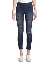 Hue - Ripped Denim Skinny Jeans - Lyst