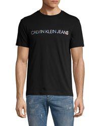 Calvin Klein Graphic Logo Cotton Tee - Black