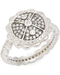 Freida Rothman - Classic Cubic Zirconia And Sterling Silver Holiday Rings - Lyst