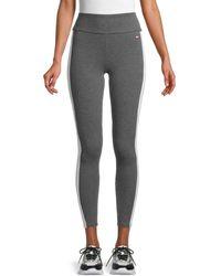 Tommy Hilfiger Women's High-waist Stretch-cotton Leggings - Storm Heather - Size Xl - Multicolour