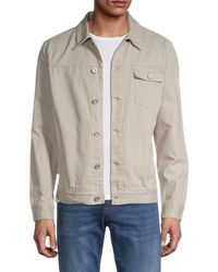 French Connection Button-front Cotton Jacket - Grey
