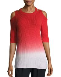 Zoe Jordan Aristotle Ombre Cold-shoulder Sweater - Multicolor