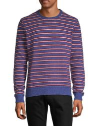 Saks Fifth Avenue - Crewneck Striped Cashmere Jumper - Lyst