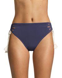 Robin Piccone Abi High-waist Bikini Bottoms - Blue