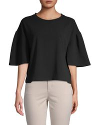 Ellen Tracy - Flare-sleeve Cropped Top - Lyst