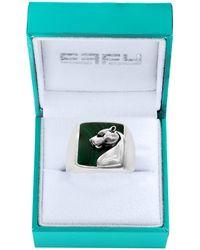 Effy Sterling Silver & Malachite Ring - Blue