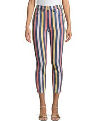 3x1 Volt Striped Skinny Crop Jeans - Multicolour