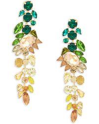 Jardin - Crystal Ombre Drop Earrings - Lyst