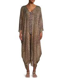 Jonathan Simkhai Leopard-print Caftan - Brown
