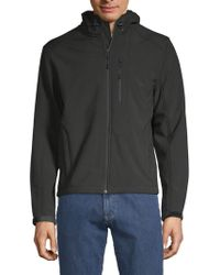 William Rast Full-zip Hooded Jacket - Black