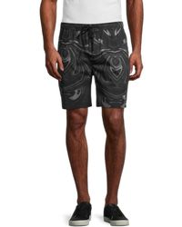 NANA JUDY Men's Distinction Cotton Swim Shorts - Marble - Size Xl - Multicolor