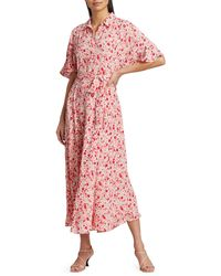 byTiMo Summer Of Love Maxi Shirtdress - Red