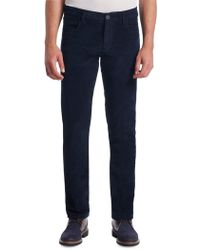 Saks Fifth Avenue Collection Corduroy Straight Pants - Blue