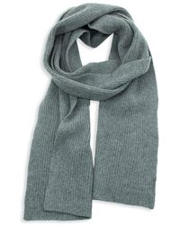 Portolano Ribbed Cashmere Scarf - Grey