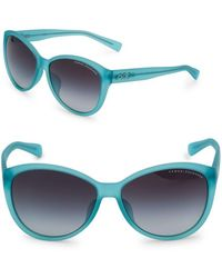 Armani 59mm Rounded Sunglasses - Green