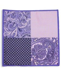 Saks Fifth Avenue - Mixed-print Silk Pocket Square - Lyst