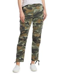 Mother Sir Yes Sir Camo Joggers - Green
