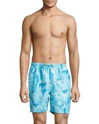 Tommy Bahama - Oasis Tropical Print Swim Trunks - Lyst