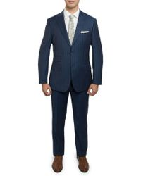 English Laundry - Men's Slim-fit Pinstriped Wool Suit - Lyst
