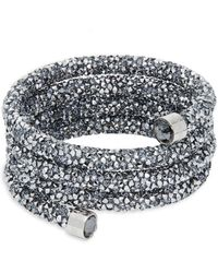851f97b46c99 Lyst - Swarovski Ready Crystal Pavé Bangle Bracelet in Gray