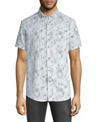 Report Collection - Printed Short-sleeve Button-down Shirt - Lyst